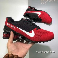Nike AIR SHOX FLYKNIT Zoom Running Shoes 2018 Russia FIFA World Cup RED BLACK New Year Deals