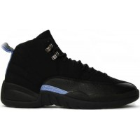 Air Jordan 12 Retro Nubuck Black White University Blue