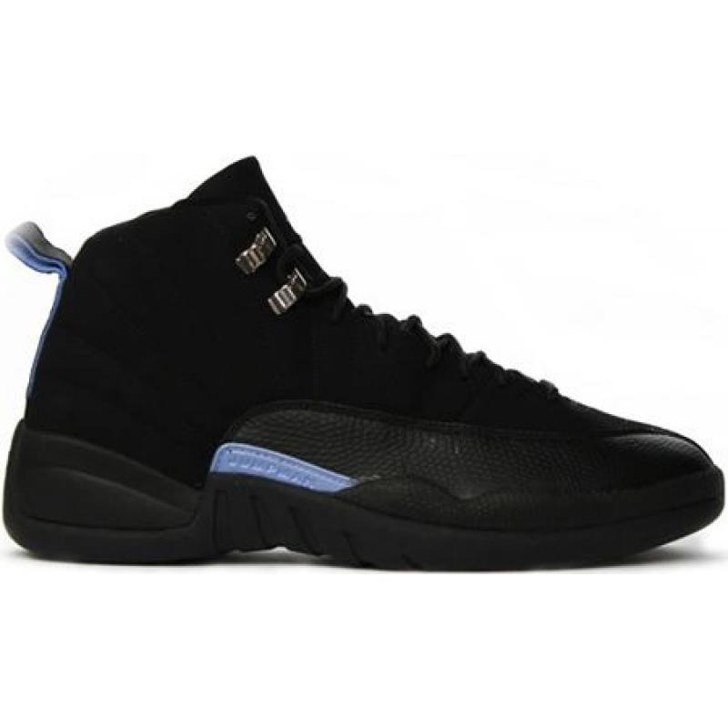 quality design 3dca9 1d847 Air Jordan 12 Retro Nubuck Black White University Blue