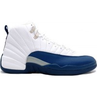 Air Jordan 12 Retro White French Blue Metallic Silver Varsity Re