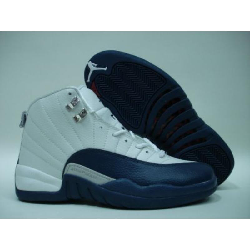 the best attitude 2df50 118d9 Jordan Retro 12 White French Blue