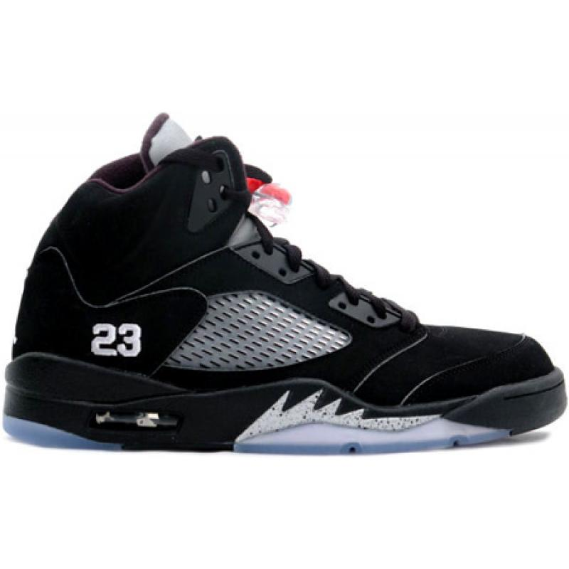 f94b849ce8ac Jordan 5 Retro Black Metallic Silver Red 23 - Nike Air Jordan 5 (V ...
