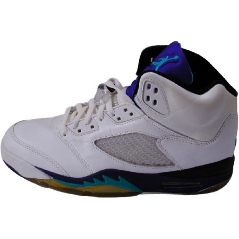 sports shoes f132a 17bcd Jordan 5 Original White Grape Ice New Emerald