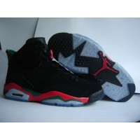 Air Jordan 6 Black Red Green