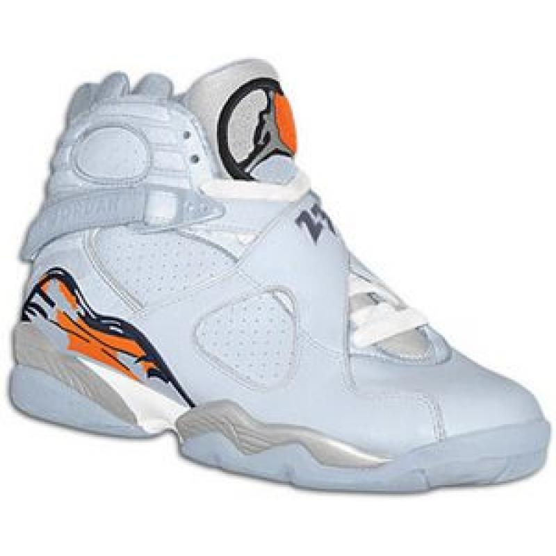 low priced e4260 979d1 Air Jordan 8 Retro Womens Ice Blue Orange Blaze Silver