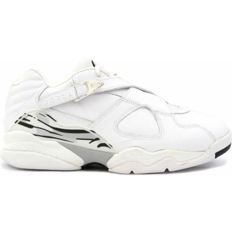 online store 92ebd 530f5 Air Jordan 8 Retro Low White Metallic Silver