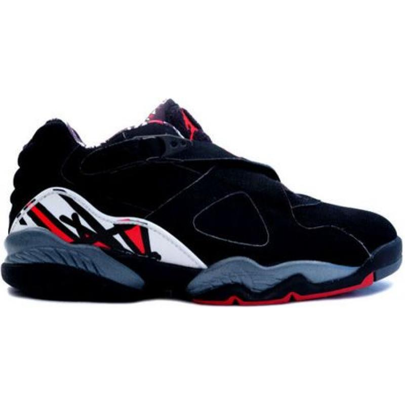 8ff4e95619f4 Air Jordan 8 Retro Low Black True Red Del Sol