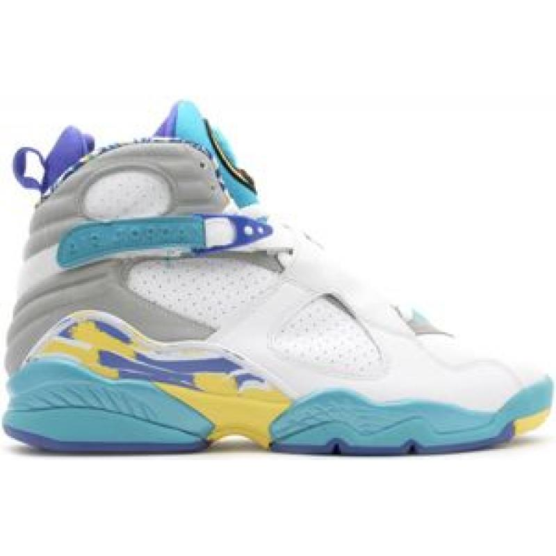new product a3a99 c02c1 Air Jordan 8 Retro Womens White Varsity Red Bright Concord Aqua