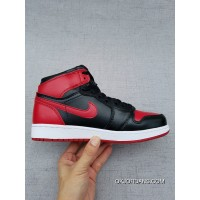 1 Also Jordan Shoes Action Leather Air 1 Aj1 Forbidden To Wear Black And Red New Year Deals