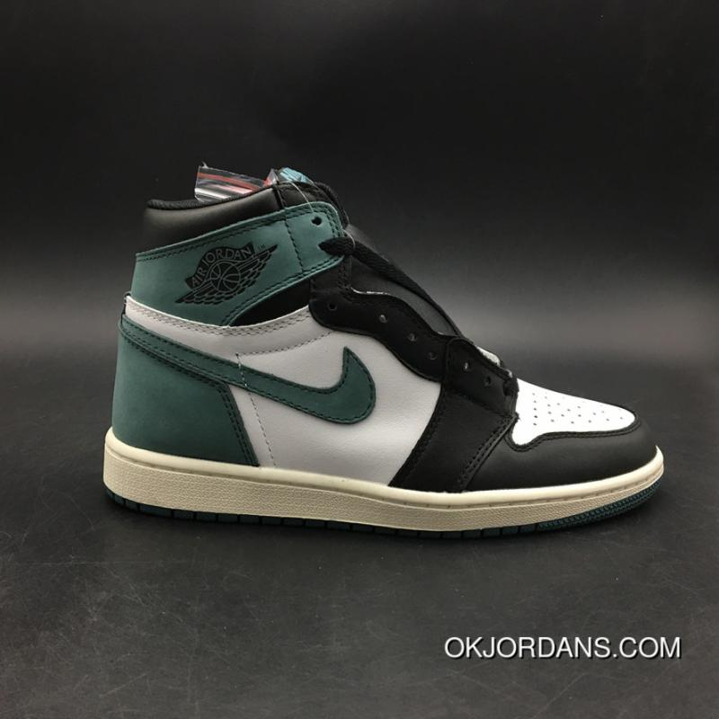 huge selection of f4be4 13bdb Jordan Air 1 High Black Green Green Toes Size7.5-13 555088-135 New Style