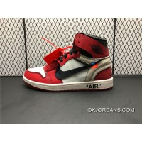 AA3834-101 Pure Original Top Process Air Jordan 1 X OFF-WHITE OW Paired With The Original File Data To Develop The Highest Degree Reduction Type Shoes Men Shoes New Year Deals