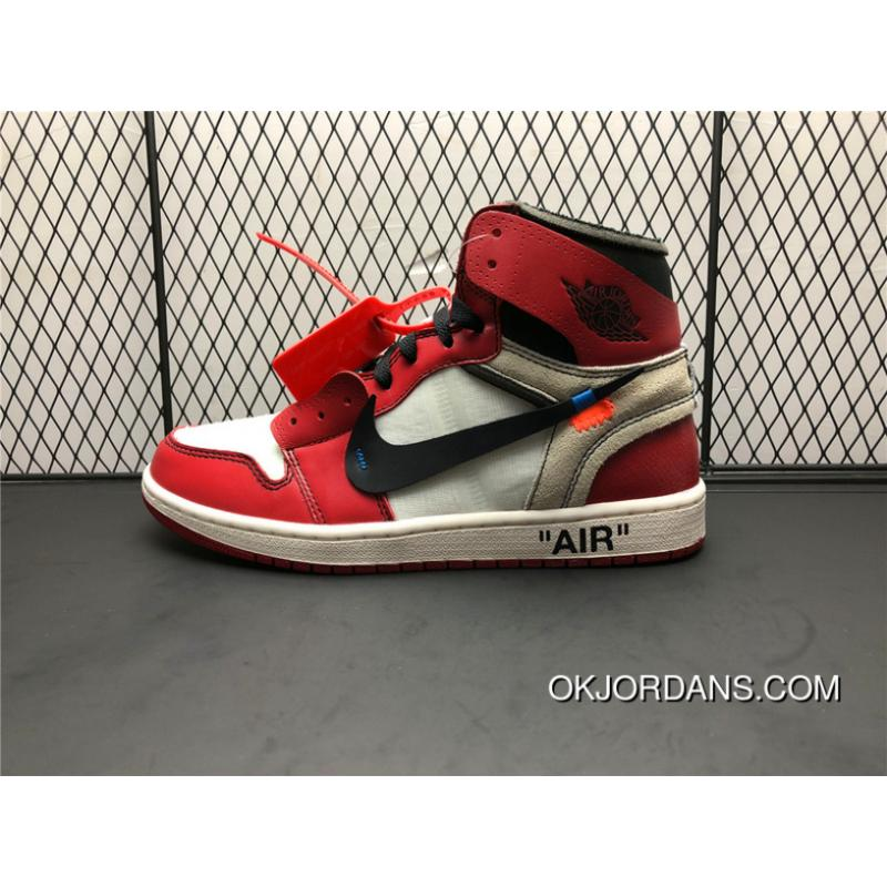 bas prix 6b58f 9bf80 AA3834-101 Pure Original Top Process Air Jordan 1 X OFF-WHITE OW Paired  With The Original File Data To Develop The Highest Degree Reduction Type  Shoes ...