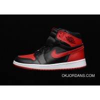 Super Soft Action Leather Genuine Leather Version All Jordan Air 1 Retro Banned The Forbidden To Wear Black Red SKU 555088-001 Copuon