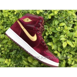 Nike Air Jordan 1 RETRO GS Red Velvet 2017 Spring New Discount