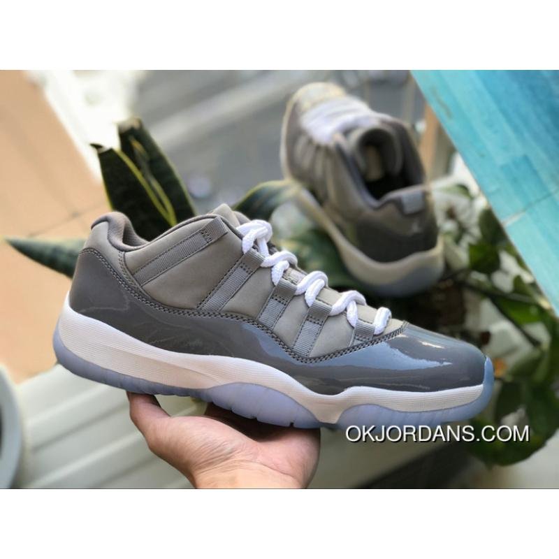 buy online 5c7b9 7499c Aj11 Cool Grey Low Air Jordan 11 Low Cool Grey Cool Grey Size 528895-003  Super Deals