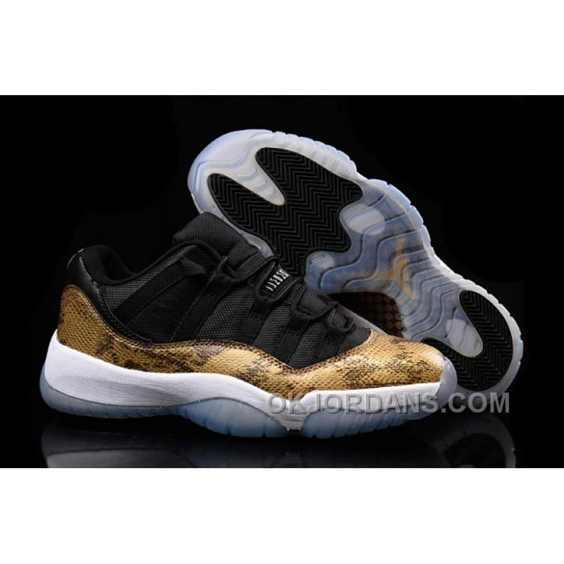 "762333c91be3 Shop Air Jordan 11 (XI) Low ""Golden Snake"" Custom Black Gold Kys8G ..."