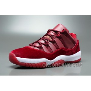 Air Jordan 11 Velvet Heiress Low Burgundy Men Authentic 6sfKf