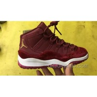 Air Jordan 11 Kids Red Velvet Best Whn4xi