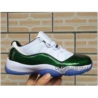 Jordan Sneakers Nike Air Jordan 11 Green White Blue Copuon