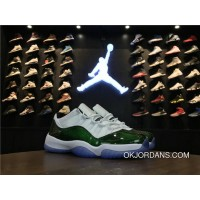 Jordans For Nike Air Jordan 11 Low Classic Green White Black Outlet