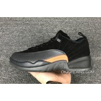 Air Jordan 12 Shoes 2017 Air Jordan 12 Low Black Max Orange-Anthracite Top Deals