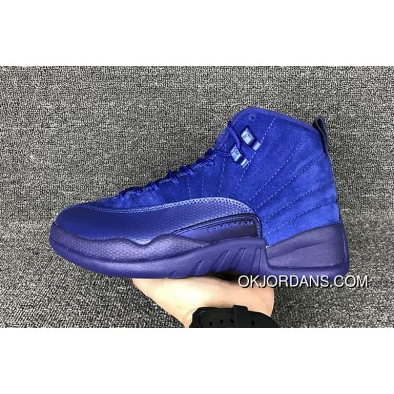 outlet store 535aa 46a6a USD  73.23  219.68. New Release Air Jordan 12 Blue Suede Deep Royal ...