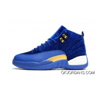 JORDAN 12A J12 36---40 Blue Yellow 2017 Women Discount JReh6