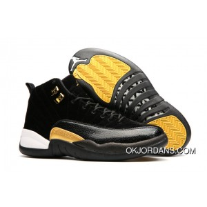 JORDAN 12A J12 36---40 Black Yellow 2017 Women Super Deals XHhpp4a