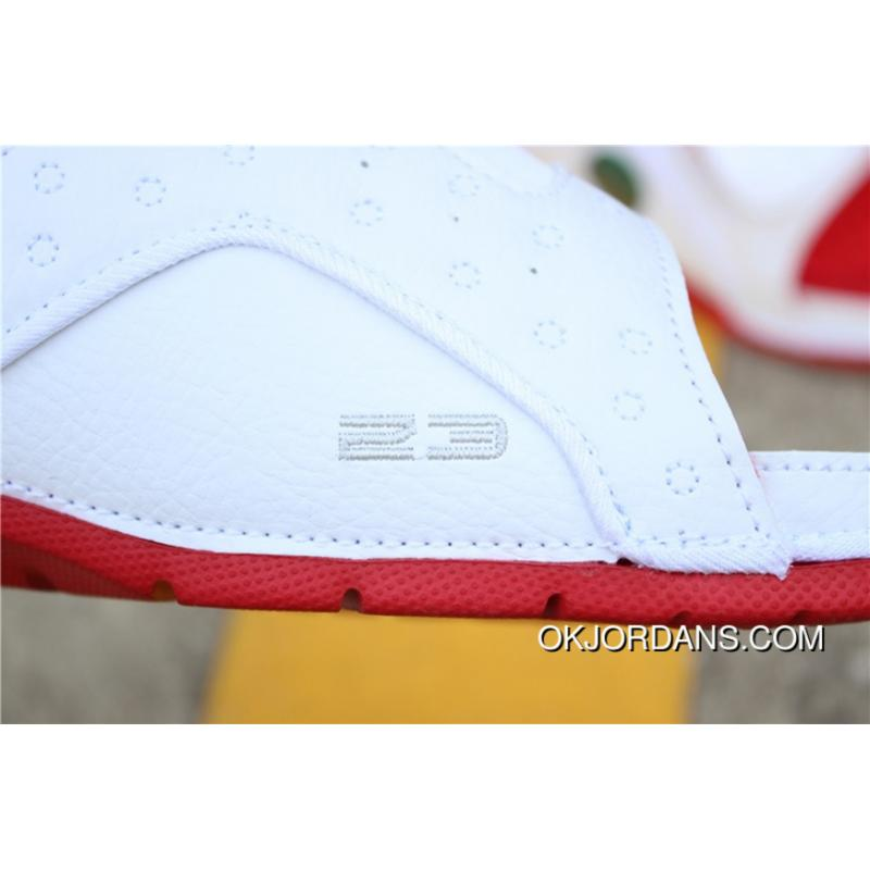 bfa70619e967 ... Hyx Jordan Slides AJ Slides HYDRO XIII RETRO SKU 684915-121 Air 13  White Red