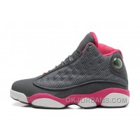 Womens Air Jordan 13 GS Retro Cool Grey/Fusion Pink-White Sale Super Deals AHt5iiT