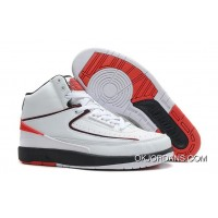 Air Jordan 2 (II) White/Black-Varsity Red For Sale