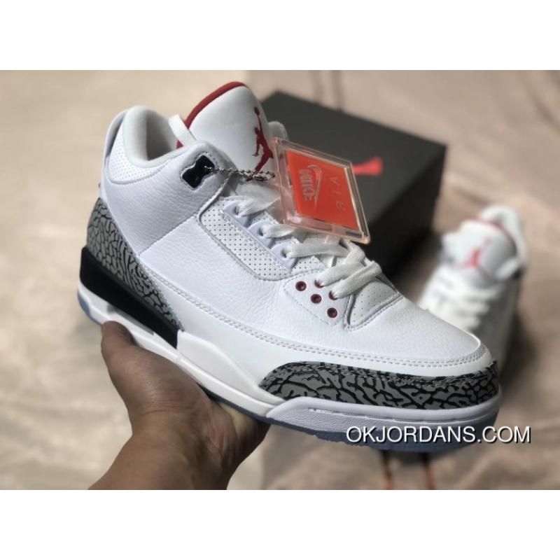 wholesale dealer e3297 9219f The Air Jordan 3 OG NRG AJ3 White Cement Dunk Contest Crystal At The End Of  923096-101 New Year Deals