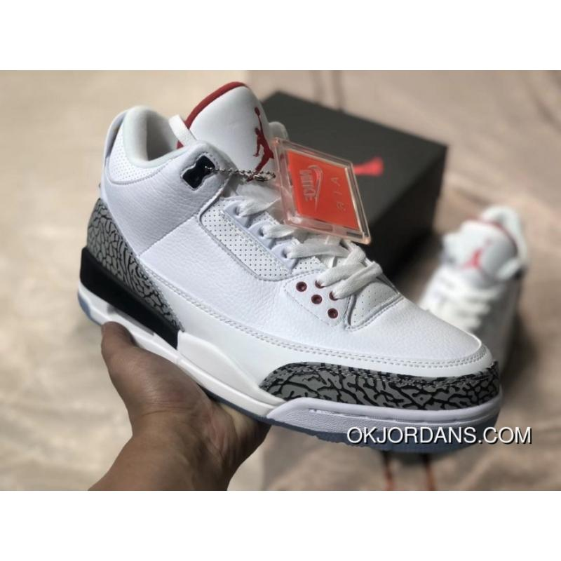 wholesale dealer f3eda dd12b The Air Jordan 3 OG NRG AJ3 White Cement Dunk Contest Crystal At The End Of  923096-101 New Year Deals
