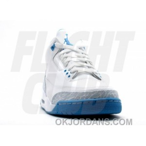 WS Air Jordan Retro 3 White Harbor Blue Boarder Blue 315296-142 For Sale G4jxn