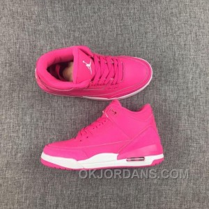 Air Jordan 3 White Pink Women 2017 Spring New Super Deals S2JhYKB