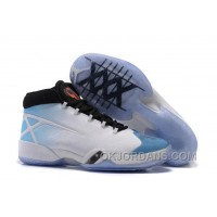 "New Air Jordan 30 XXX ""UNC"" White/Black-University Blue Authentic BYSGi"