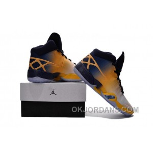Air Jordan XXX AJ30 Yellow Navy Blue 40--46 Lastest DTMje