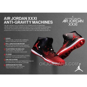 "2017 Air Jordan XXX1 ""Banned"" Black/University Red-White Top Deals FsHyz"