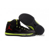 2017 Air Jordan XXX1 Black Green Red Basketball Shoes Authentic XDy3tCX
