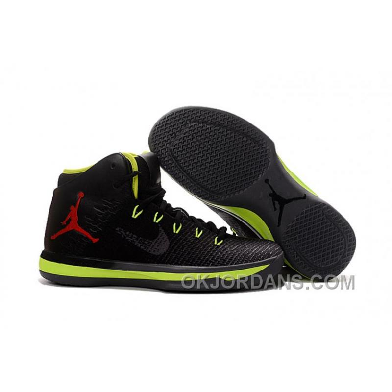 hot sales 73184 ac195 USD $91.23 $310.19. 2017 Air Jordan XXX1 Black Green Red Basketball Shoes  Authentic XDy3tCX ...