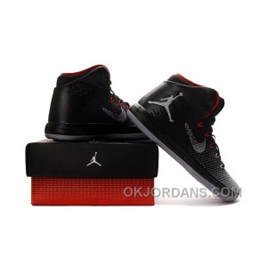 2017 Air Jordan XXX1 Black/Red-Wolf Grey Basketball Shoes Best 8zwaJb