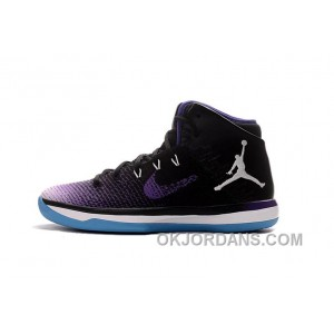 2017 Mens Air Jordan XXX1 Black Purple White Blue Basketball Shoes Authentic 5NsYC