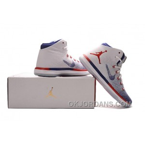 "2017 Mens Air Jordan XXX1 ""Olympic"" USA White/University Red-Deep Royal Blue Copuon Code 5862a3P"