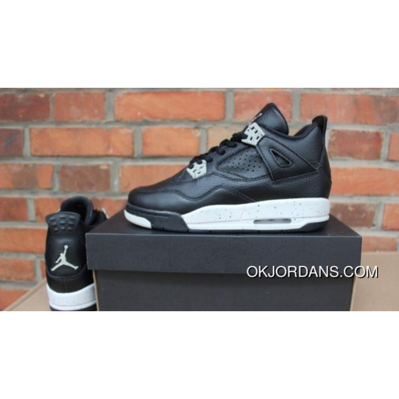 online store bf9fe 4d21f J4 New Oreo GS Shoes Air Jordan 4 Yards Online