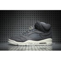 Air Jordan 5 Wool Dark Grey Free Shipping T7KN22