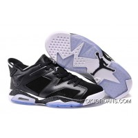 Online Air Jordan 6 Retro Low Black Oreo Black White Newest