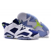 Air Jordan 6 Retro Low Ghost Green White/Ghost Green-Insignia Blue 2015 New Style