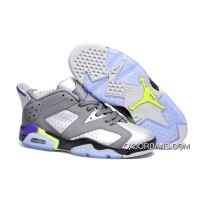 Air Jordan 6 Retro Low Dark Grey/Ultraviolet-Wolf Grey-Ghost Green 2015 Outlet