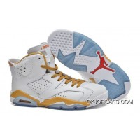 Air Jordan 6 Retro Gold Medal White Gold Best