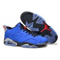 Copuon Air Jordan 6 Retro Low Eminem Custom Royal Blue/Black-Grey